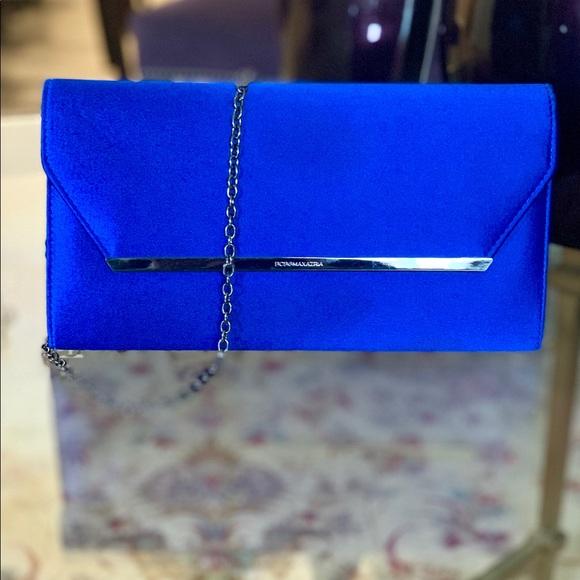 BCBGMaxAzria Handbags - BCBGMaxAzria Blue Flap Bag
